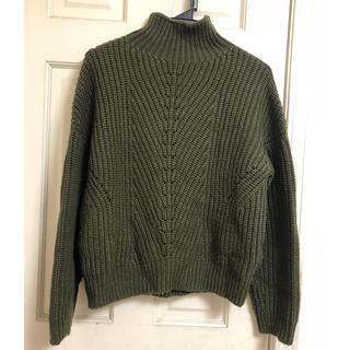 グリーンレーベルリラクシング(green label relaxing)のハイネック セーター   カーキ  グリーンレーベル(ニット/セーター)