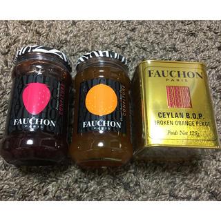 ルピシア(LUPICIA)の【新品・未開封】FAUCHON ジャム2個と紅茶(茶)