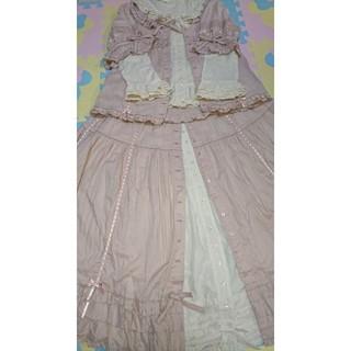 ピンクハウス(PINK HOUSE)のピンクハウス サテンリボンと刺繍ブラウス&サテンリボンスカート セット(セット/コーデ)