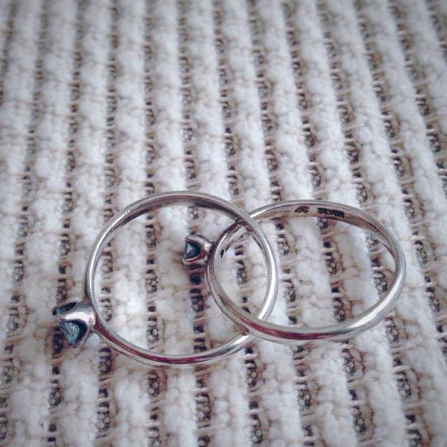 4℃(ヨンドシー)の4℃♡シルバー二連リング レディースのアクセサリー(リング(指輪))の商品写真