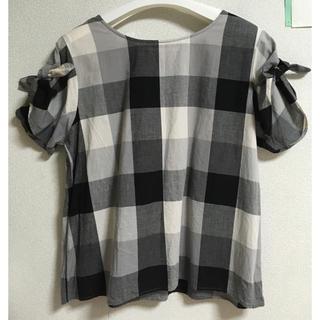 ソルベリー(Solberry)の袖リボンブロックチェックブラウス(シャツ/ブラウス(半袖/袖なし))