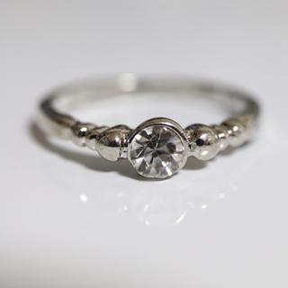 即購入OK【AR018】アンティークデザインシルバーカラーリング指輪(リング(指輪))