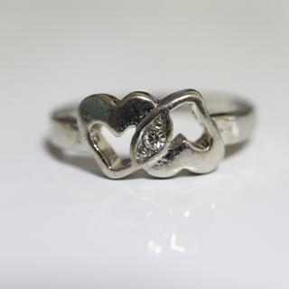 即購入OK【AR004】アンティークデザインシルバーカラーリング指輪(リング(指輪))