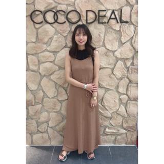 ココディール(COCO DEAL)のココディールバッククロスキャミワンピース(ロングワンピース/マキシワンピース)
