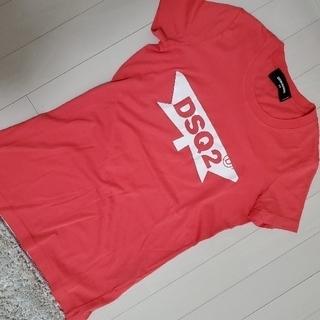 ディースクエアード(DSQUARED2)の【未使用】DSQUARED2 ロゴTシャツ ピンク(Tシャツ/カットソー(半袖/袖なし))