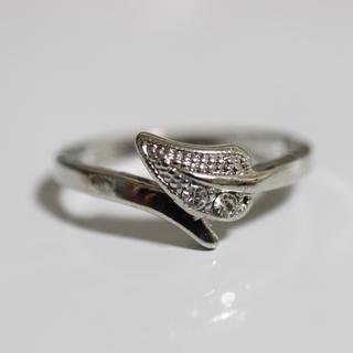 即購入OK【AR017】アンティークデザインシルバーカラーリング指輪(リング(指輪))