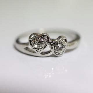 即購入OK【AR014】アンティークデザインシルバーカラーリング指輪(リング(指輪))