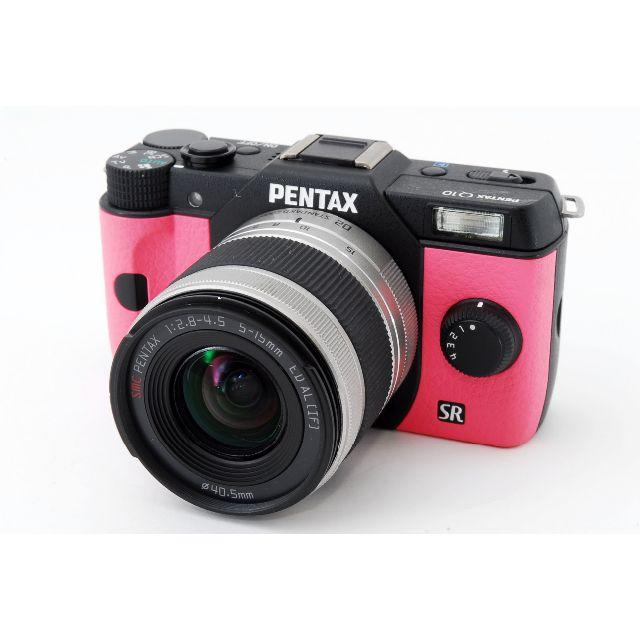 PENTAX(ペンタックス)の[美品]PENTAX Q10 ピンクブラックボディ 02 レンズキット スマホ/家電/カメラのカメラ(ミラーレス一眼)の商品写真