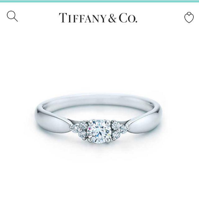 Tiffany & Co.(ティファニー)のティファニー サイドストーン ダイヤリング PT950 レディースのアクセサリー(リング(指輪))の商品写真