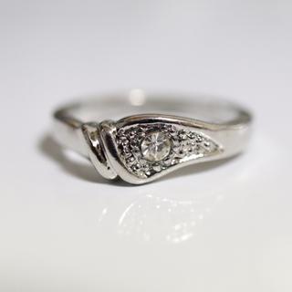即購入OK【AR021】アンティークデザインシルバーカラーリング指輪(リング(指輪))