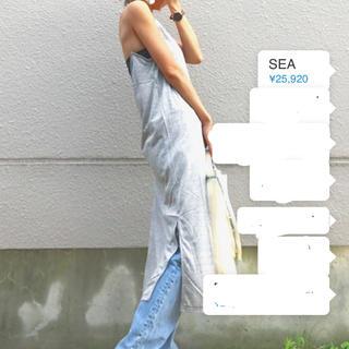 シー(SEA)のSEA カットソーマキシワンピ(ロングワンピース/マキシワンピース)