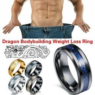 ヴィンテージドラゴン ステンレスヘルスケア減量脂肪燃焼リング(リング(指輪))