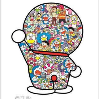 ドラえもん展 藤子・F・不二雄先生とドラえもんがお花畑に居る  ポスター(ポスター)
