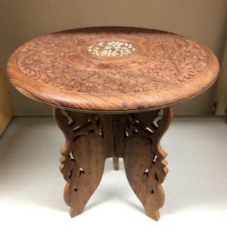 紫檀ミニ円卓(ローテーブル)