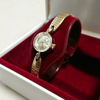 ユニバーサルジュネーブ(UNIVERSAL GENEVE)の【専用】ユニバーサル ジュネーブ 14K カットガラス アンティーク腕時計(腕時計)