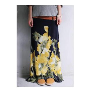アンティカ(antiqua)のアンティカ花柄スカート(ロングスカート)