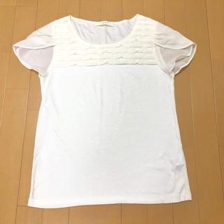 エフデ(ef-de)のef-de♡袖シフォンカットソー(Tシャツ(半袖/袖なし))