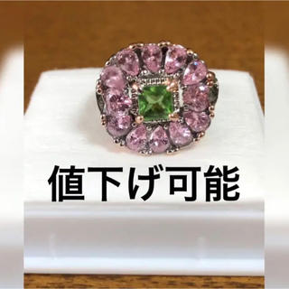 33石 ジルコニアダイヤモンド リング 指輪 2ct プラチナ仕上げ(リング(指輪))