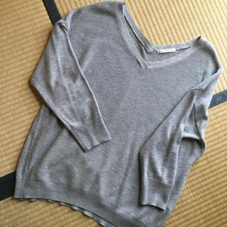シマムラ(しまむら)の薄手グレーラメニット(ニット/セーター)