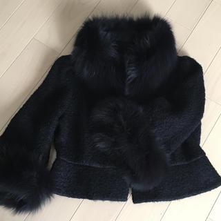 トゥービーシック(TO BE CHIC)のTO  BE CHIC ファージャケットコート サイズ42(毛皮/ファーコート)