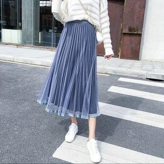フレイアイディー(FRAY I.D)のチュール×ベロアスカート 新品未使用(ロングスカート)