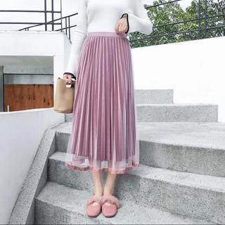フレイアイディー(FRAY I.D)のチュール×ベロア スカート 新品未使用(ロングスカート)