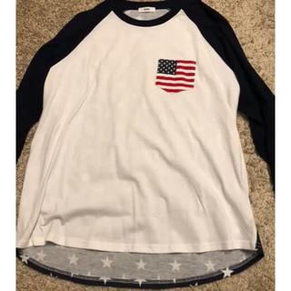 ロデオクラウンズワイドボウル(RODEO CROWNS WIDE BOWL)のロデオクラウンズ RCWB 星条旗 ロンT(Tシャツ/カットソー(七分/長袖))