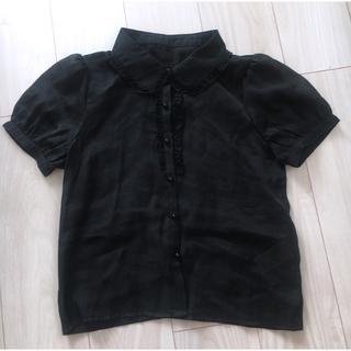 ティティアンドコー(titty&co)のフリル 襟付き ブラウス(シャツ/ブラウス(半袖/袖なし))