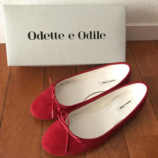 Odette e Odile - Odette e Odile バレエシューズ 24.5 スウェード赤 定番人気品