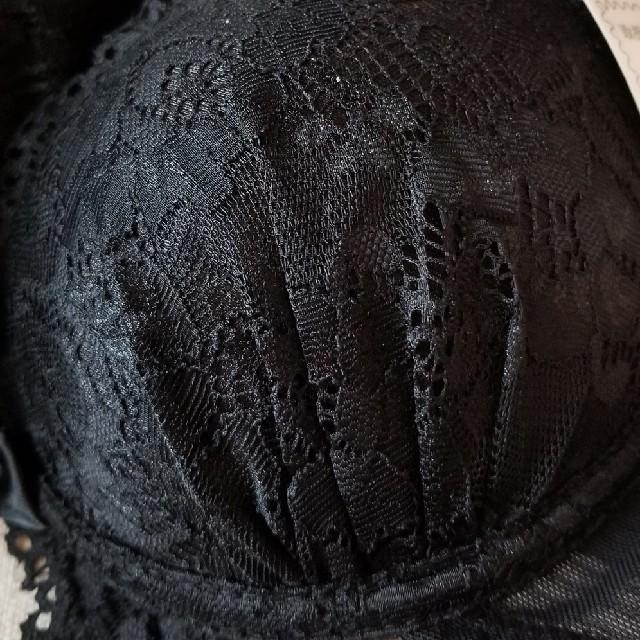 最終お値引き‼️新品、未使用、ブラックレースブラ&Tバックショーツセット レディースの下着/アンダーウェア(ブラ&ショーツセット)の商品写真