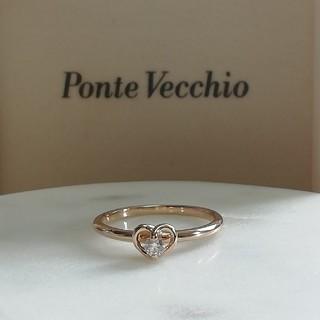 ポンテヴェキオ(PonteVecchio)のうさーさん様ご専用美品✨ポンテヴェキオ K18PG ハート ダイヤモンドリング (リング(指輪))