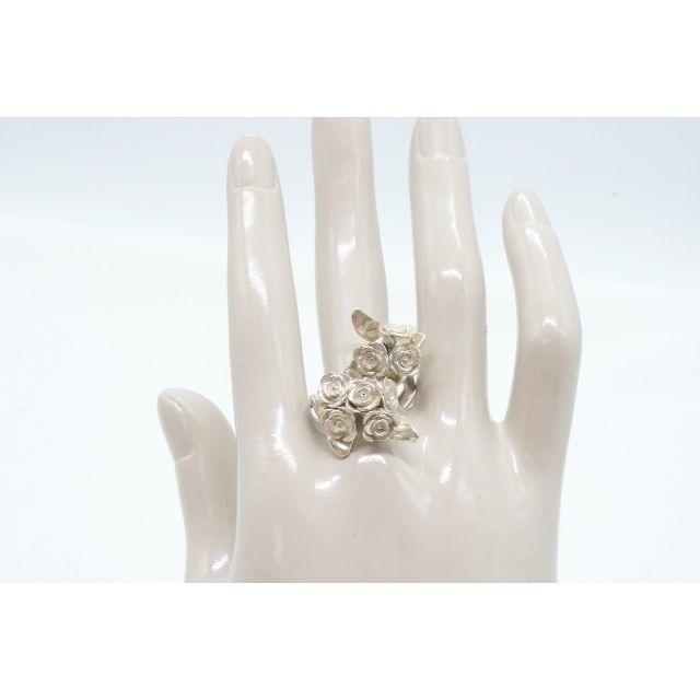 KAORU(カオル)の【B-166】KAORU シルバー バラ 薔薇 リング 指輪 フリーサイズ レディースのアクセサリー(リング(指輪))の商品写真