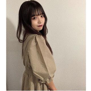 カスタネ(Kastane)のきらりちゃん着用 ウエストギャザー ワンピース(ロングワンピース/マキシワンピース)