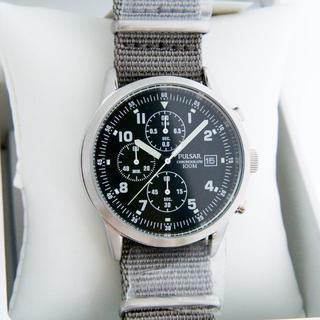セイコー(SEIKO)の追加写真 新品 セイコー パルサー ミリタリークロノグラフ 英国軍用時計 民間版(腕時計(アナログ))