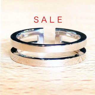 トクトクジュエリー K10WG シンプルラインリング(リング(指輪))