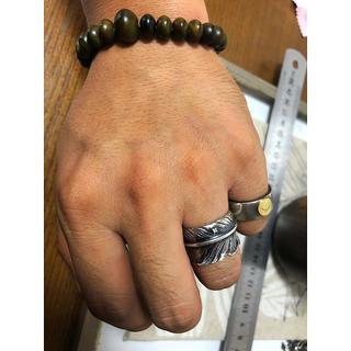 ゴローズ(goro's)のシルバー ダイヤモンド付きフェザーリング(リング(指輪))