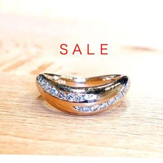 トクトクジュエリー K18PG ダイヤモンド ピンキーリング(リング(指輪))