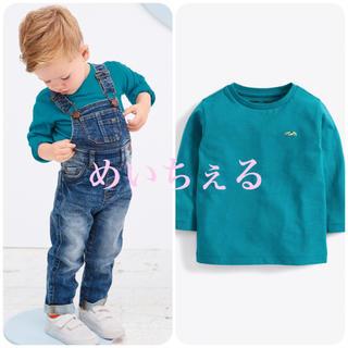 ネクスト(NEXT)の【新品】next ターコイズ 長袖プレーンTシャツ(ヤンガー)(シャツ/カットソー)