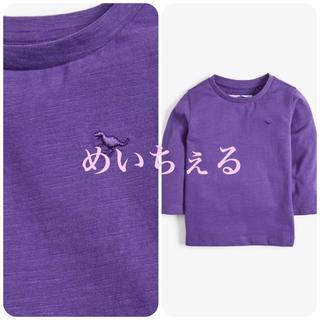 ネクスト(NEXT)の【新品】next パープル 長袖プレーンTシャツ(ヤンガー)(シャツ/カットソー)