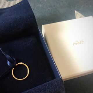 アーカー(AHKAH)のAHKAH ダイアモンドピンキーリング(リング(指輪))