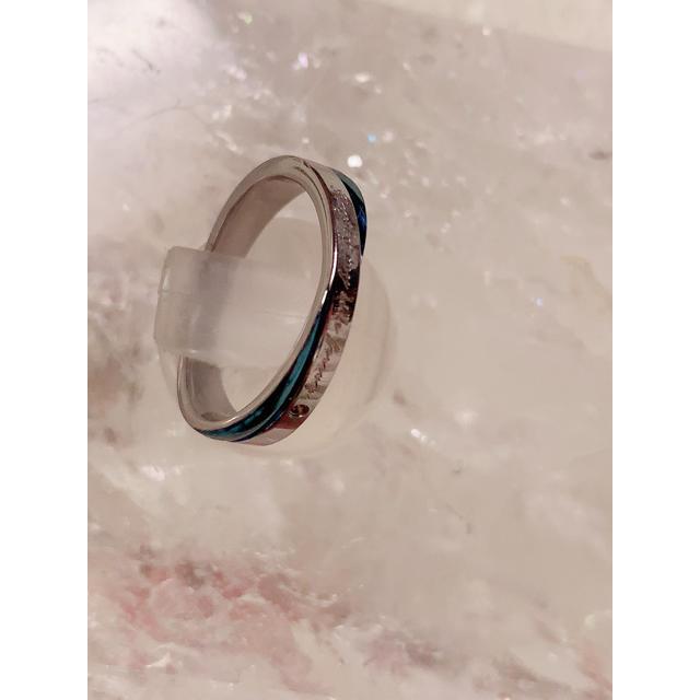 サージカルステンレス  指輪 リング 15号 お守り レディースのアクセサリー(リング(指輪))の商品写真