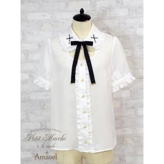 アマベル(Amavel)のクロス刺繍ブラウス(シャツ/ブラウス(半袖/袖なし))