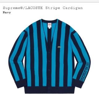 シュプリーム(Supreme)のサイズS supreme LACOSTE stripe cardigan (カーディガン)
