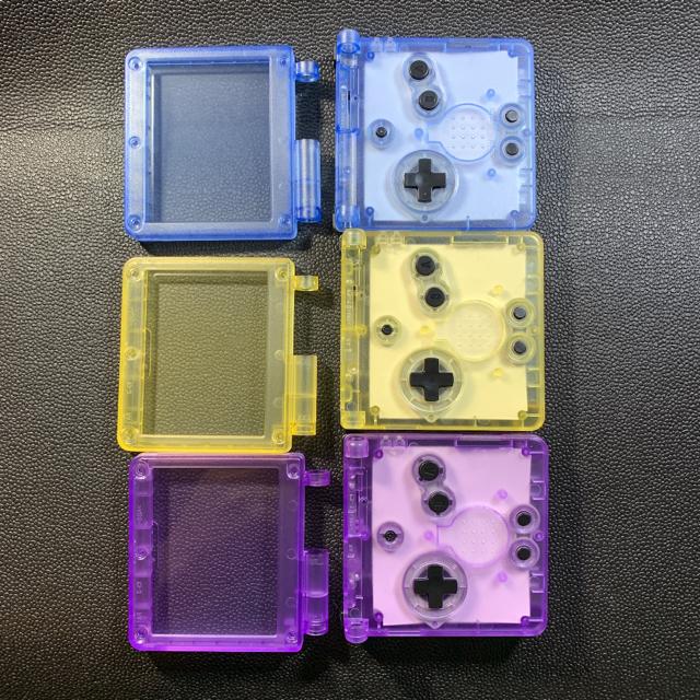 ゲームボーイアドバンス(ゲームボーイアドバンス)のゲームボーイアドバンスSP 新品 外装 シェル クリアイエロー グロー エンタメ/ホビーのゲームソフト/ゲーム機本体(その他)の商品写真