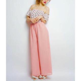 リルリリー(lilLilly)のlilLilly♡人気完売品♡シフォンフレアパンツ♡pink(カジュアルパンツ)