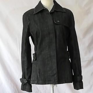 バーバリー(BURBERRY)の美品バーバリーロンドン、シンプルデニム、ジャケットコート、サイズ40、L。(Gジャン/デニムジャケット)