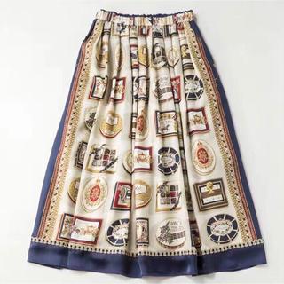 ジェーンマープル(JaneMarple)のJanemarple royal chocolate スカート(ひざ丈スカート)