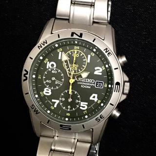 セイコー(SEIKO)の新品同様品🔴SEIKO/クロノグラフ🔴100M、メンズ、クオーツ腕時計(腕時計(アナログ))