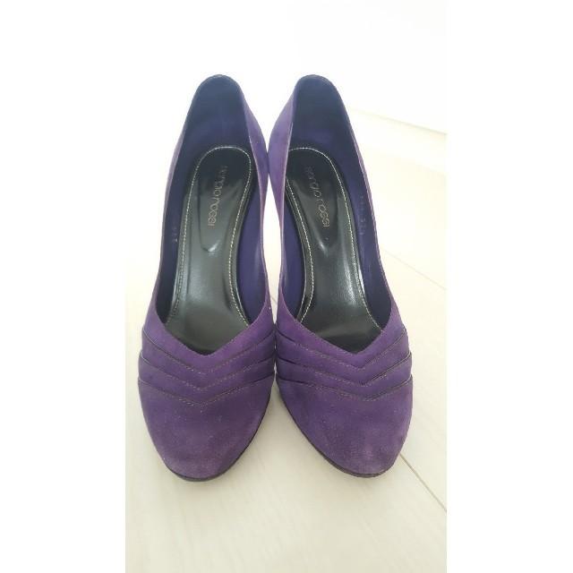 Sergio Rossi(セルジオロッシ)の定価約15万 未使用近 スウェード 紫 パープル 美脚 37ハーフ 24.5  レディースの靴/シューズ(ハイヒール/パンプス)の商品写真