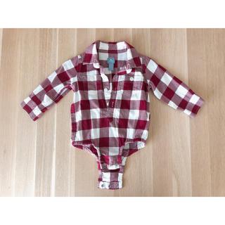 ベビーギャップ(babyGAP)のチェックシャツ 70(ロンパース)